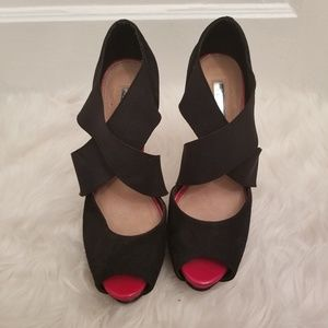 H by Halston Strappy Stilettos, Size 7M